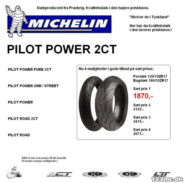MICHELIN PILOT POWER 2CT. Sæt pris.! til salg - 123mc