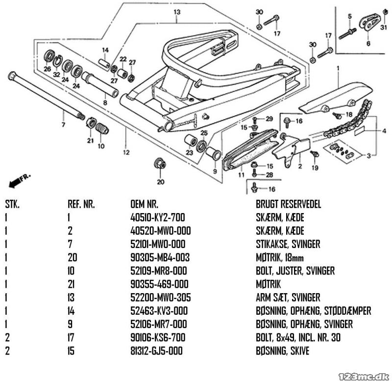 CBR900RR Fireblade titane Boulon Banjo no:90145-ms9-612